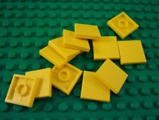 New LEGO Lot of 12 Yellow 2x2 City Creator Smooth Tiles
