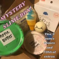 MYSTERY SLIME PACKAGE (Comes With 2 6oz slime PLUS MYSTERY ITEMS!)
