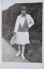 VON RESNICEK ORIGINAL VINTAGE 1920's PHOTOGRAPHIC TENNIS POSTCARD