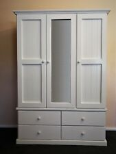 3 door 4 drawer Solid Timber Wardrobe in White Children's bedroom Furniture