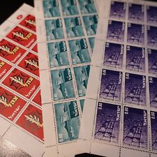 FEUILLE SHEET ISRAEL STAMP N°338/340 x15 COUNTRYSIDE JUNE 1967 NEUF LUXE MNH