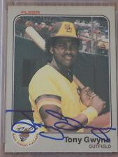 Tony Gwynn Signed 1983 Fleer Rookie Card #360 PSA DNA Padres HOF