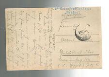 1943 Krakow Poland Germany Postcard Cover Waffen SS 3rd Totenkopf Div Feldpost