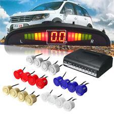 8 Parking Sensor Car Reverse Backup Rear Radar System Kit LED Sound Alert Alarm