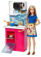 Barbie Kitchen and Doll Furniture Playset DVX54 NEW