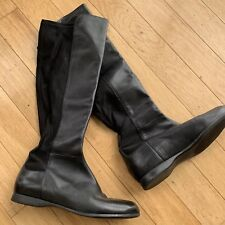 enzo angiolini boots leather stretch 8