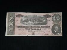$10 Confederate Currency Series 1864 Au. #15