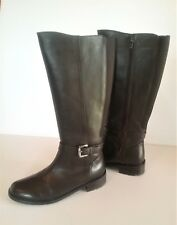 CLARKS Brown Leather Aguila Bay Women's Riding Casual or Dress Boots Size 6.5 M