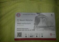 Top Sammler Mint Ticket FC Bayern München vs TSG Hoffenheim 1.Bundesliga 18/19