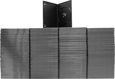 (200) DVBR07BKPR Super Thin Slim Empty Black PREMIUM DVD Cases Boxes 7mm NEW