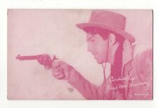 Fred MacMurray 1940's 1950's Cowboy Red Salutations Exhibit Arcade Card