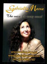 Gabriella Massa Autogrammkarte Original Signiert ## BC 162269
