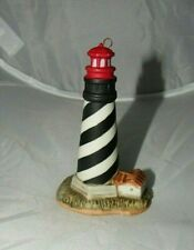 Lefton 1994 St. Augustine Hand Painted China Lighthouse Ornament Figurine #01439