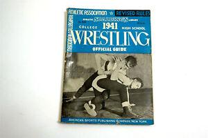 NCAA 1941 WRESTLING Office Guide Rule Book Spaldings Library College High School