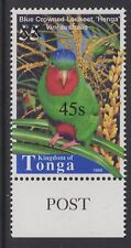 TONGA SG1546 2004 45s on 55s BLUE CROWNED LORIKEET MNH