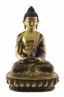 Buda Amitabha Estatua Tibetano 15cm Cobre Y Oro Nepal Buda 26663