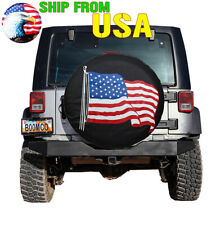 Spare Tire Cover 14in, Waterproof Protector Universal for Jeep CRV SUV RV Truck