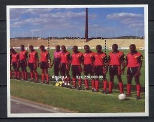 s7091) ANGOLA 1998 MNH** WC Football'98 - CM Calcio S/S red shirts