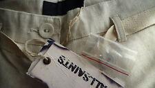 "AllSaints LINEN, COTTON TROUSERS UK 8 - 34.5"" LEG, 30"" WAIST BNWT OFF WHITE"