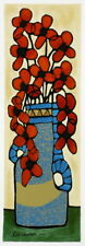 A. Ben Simhon Serigraph on Paper Flowers Flowers VIII