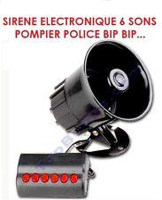 115DB 20W! SIRENE ELECTRONIQUE TELECOMMANDE 6 SONS POMPIER POLICE SIRENE BIP BIP