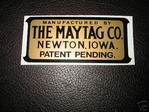Maytag antique engine decal self adhesive sticker; 7