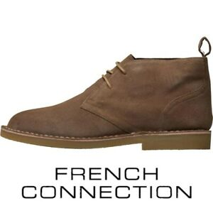 French Connection Men's Desert Boots Dark Sand Shoes - UK 6 - RRP £89.99