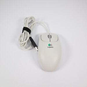 Logitech First/Pilot Wheel Mouse USB Mechanical 3-Button Scroll Ball M-BE58