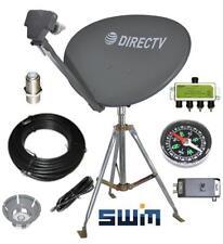 DirecTV HD SWM SL3S Portable Satellite RV Dish Kit Camping Tailgating w Tripod