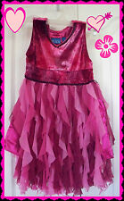 4 THE CHILDRENS PLACE  RUFFLE Pink Velvet Ruffle Satin Fairy Holiday DRESS GIRLS