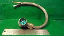 (1) GRC type 4 pin Power Plug 2 conductor 15 inch NSN 5995-00-193-9455 NOS NIB