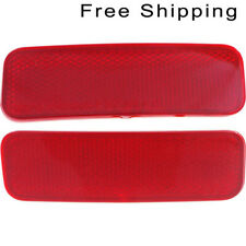 Rear Set Of 2 LH & RH Side Bumper Reflector Fits 14-17 Ford Transit Connect