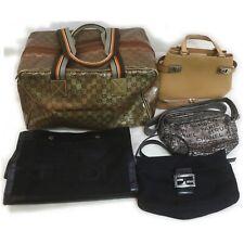 Chanel Gucci Fendi Ferragamo Leather Fabric Shoulder Bag Hand Bag 5pc set 517928