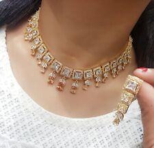 Indian Pakistan Bollywood American Diamond Necklace Earings Multi Party Wear