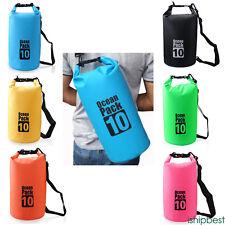 Outdoor Backpack Kayak Ocean Pack Waterproof Dry Bag Sack Multi Color 2-20L