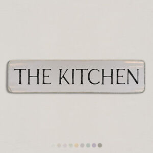 THE KITCHEN Vintage Style Wooden Sign. Shabby Chic Retro Home Gift. S2