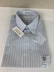 Van Heusen Dress Shirt Mens Wrinkle Free Long Sleeve Fitted 17 - 17.5