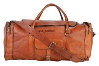 """22"""" Vintage Men's Bag Leather Duffel Travel Luggage Air Cabin Weekend Overnight"""