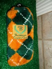 VINTAGE BROOKHAVEN COUNTRY CLUB FAIRWAY WOOD or HYBRID GOLF HEAD COVER NICE!!