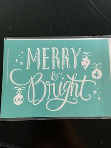 """Chalk Couture Transfer """"MERRY & BRIGHT"""" A size Brand New"""