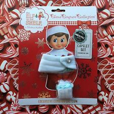 Elf on the Shelf White Capelet Set Warm Winter Clothes Christmas Holiday Outfit