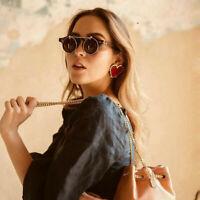 Fashion Bohemia Women Geometric Red Heart Earrings Drop Dangle Stud Punk Jewelry