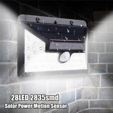 28 LED de energía solar PIR Sensor de movimiento de la pared de luz al aire libr