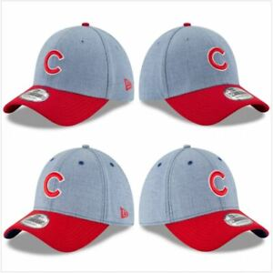 Chicago Cubs Hat New Era 39Thirty 3930 MLB Baseball Cap Flex Fit M/L Blue Red