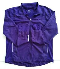 Tail Jacket Womens Size Med Full Zip Active Run Golf Tennis Thumb Loops Purple
