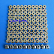 100 STEEL BOBBINS & 10 BOBBIN CASES FOR SINGLE NEEDLE MACHINES CONSEW BROTHER