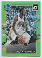 2017/18 Panini Donruss Optic Kevin Durant Lime Green Prizm SSP Warriors  #13/175