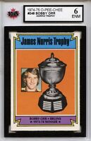1974-75 O-Pee-Chee #248 Bobby Orr Norris Trophy ENM - Graded 6.0 (100519-109)