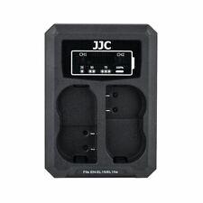 JJC DCH-ENEL15 USB Dual Battery Charger fits Nikon EN-EL15/EN-EL15a/EN-EL15b