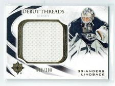 10-11 UD Ultimate Debut Threads  Anders Lindback  /200  Jersey  Rookie